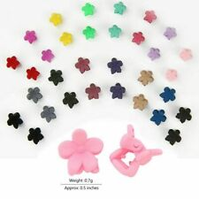 30 PCS Kids Baby Plastic Hair Clips Clamp Flower Girls Hairpins Mini Claw