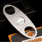 Silver Stainless Steel Pocket Cigar Cutter Knife Double Blades Scissors Shears