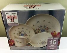 Tabletops Unlimited VICTORIAN BOUQUET 16 PC Dinner Set - NEW in Box
