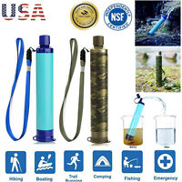 Portable Survival Water Filter Straw Purifier Filtration Camping Emergency Gear