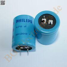 5 x 470µF 470uF 200V 105° Snap In RM10 Elko Kondensator Capacit Philips  5pcs
