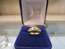 Bague or jaune Jonc Diamant./ Ring in 18 carat yellow gold with  diamond.