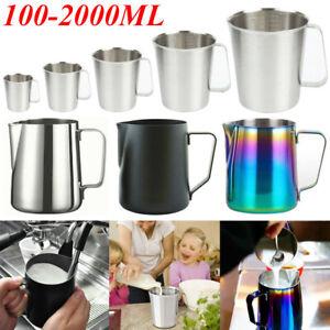 Metal Getränkebecher Edelstahl Milchgießkanne Schaumkrug Aufschäumer Kaffeetasse