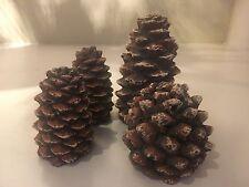 Gas Logs Decorative Ceramic Pine Cones In Assorted Sizes - Set Of 4