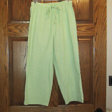 NEW Silver Wear Casual Cropped Capri Pants Green Plaid sz S misses/womens