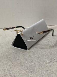 Authentic MontBlanc Eyeglasses MB 483 030 58mm Shiny Gold, Burgundy, Black