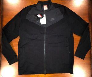 Nike Men's Sportswear Tech Knit Jacket Full Zip 886150 010 Black Size Large NWT