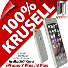 Krusell Arvika Cover 360 Schutzhülle Display Glas Apple IPHONE 7 Plus 8 Plus