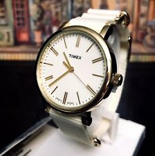 TIMEX Watch Weekender 38mm Nylon Strap Cream TW2P88800 Brand New/Box