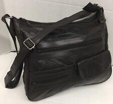 NEW Gold Coast Genuine Leather Brown Patchwork Shoulder bag Handbag crossbody