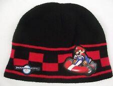 Nintendo Mario Kart Wii Black Beanie Skull Cap Hat One Size Fits Most