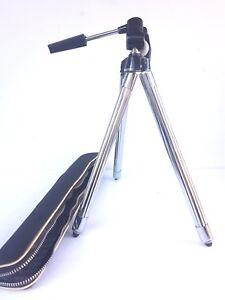 Vintage Camera Tripod KALIMAR Model F-88 K-488 Telescoping, Case, 1970s