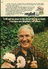 Publicité ancienne boisson lait Régilait 1971 issue de magazine