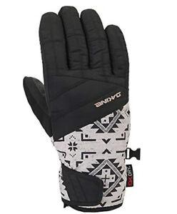 Dakine Womens Snowboard Gloves Gore Tex Ski Gloves Black Tribal Pattern L