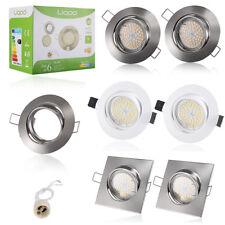 Liqoo 6x GU10 LED 4W 5W 6W Lampe Spots Encastrable Plafond Plafonnier en Métal