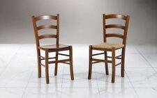 Sedia modello Venezia  colore noce o ciliegio con seduta paglia o massello