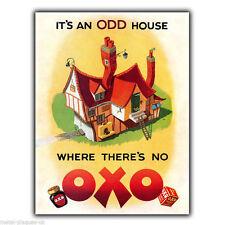 Oxo 1950 vintage ancien rétro Publicité Métal Mural Signe Plaque Cuisine Poster Print