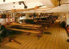Picture Postcard:;HMS Warrior's Main Deck Showing Cannon