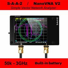 50KHz-3GHz NanoVNA V2 Vector Network Antenna Analyzer HF VHF UHF with Battery