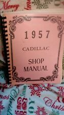1957 Cadillac shop manual reprint binder type w/ plastic protective cover