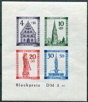 Französische Zone Baden Block 1 B postfrisch geschnitten Michel 75,00 €