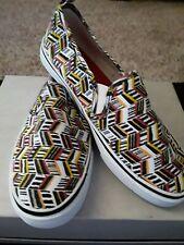 H & M Multi Color Canvas Slip On Shoes Size 39