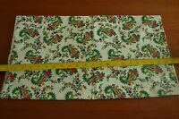 "By-the-Half-Yard, 44"" Wide, Paisley on White Quality-Cotton, Clothworks, M4442"