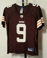 Cleveland Browns #9 Charlie Frye Reebok Jersey Size Youth/Girls Med