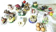 New ListingHuge Lot of 18 Charming Tails Collectible Mice & Rabbits Fitz & Floyd Mouse