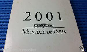 2001 Monnaie de Paris France Proof Coin Set (Total of 11 coins in Booklet)
