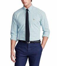 Polo Ralph Lauren Tattersall Oxford Long-Sleeve Woven Shirt Men's SZ 3XL-Tall