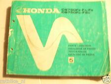 HONDA CB750 FZ,FA,FB,FC,F2C PARTS CATALOGUE LIST NO 5 1981 MOTO
