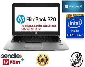 "HP EliteBook 820 G2 i7 5600U 2.6Ghz 8GB 240GB SSD W10P 12.5"""