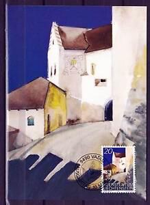 Maxi Card E02 Liechtenstein 1986 Vaduz Castle forecourt