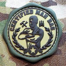 CERTIFIED MAN BAG PVC ISAF ARMY MILSPEC MULTICAM VELCRO® BRAND FASTENER PATCH