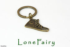 Retro Bronze Converse Trainer Shoe Keyring Key Chain