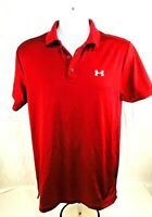 Under Armour Men's HeatGear Loose Polo Short-sleeve Pullover Burgundy Shirt Sz S