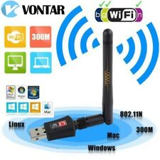 VONTAR 300Mbps Wireless USB WiFi Adapter Network LAN Card 802.11b/g/n w/ Antenna