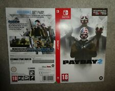 NO GAME OR BOX Nintendo Switch PAYDAY 2 replacement promo Sleeve shop display