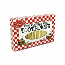 Round White Birch Wood Toothpicks (600 Count Package)