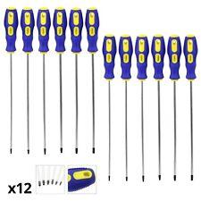 Star Screwdriver Set Extra Long Magnetic Torx T10 T15 T20 T25 T27 T30 12Pc 360mm