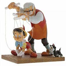 LITTLE WOODEN HEAD Pinochio Geppetto Figaro Skulptur Disney Enchanting A29296