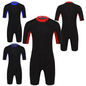 Herren Schwimmanzug Kurzarm Schutzkleidung Shorty Wetsuit Neoprenanzug Badeanzug