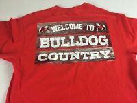 Georgia Bulldogs T-Shirt Adult SZ S/M UGA Welcome Country Alumni Student Athens