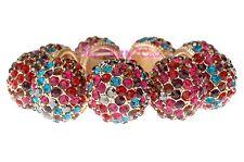 Designer Catwalk GLAMOUR ORO BALL STRETCH BRACCIALE W ARCOBALENO cristalli swarovski