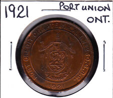 1921 Port Credit,Ontario,Canada Masonic One Penny Token