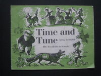 TIME AND TUNE, MUSIC BOOK,,SPRING TERM 1959, BBC BROADCASTS TO SCHOOL
