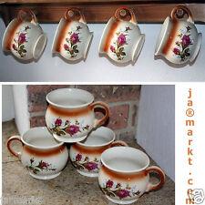 Taza - 4 piezas - hecho de cerámica - tee- Y CAFÉ CON ROSAS Motivo