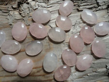 Cabochon Gemstone Pink Rose Quartz 13x18 mm (pkg 25)