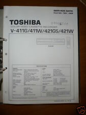 Manual De Servicio Toshiba V-411/421 Video Rec,ORIGINAL